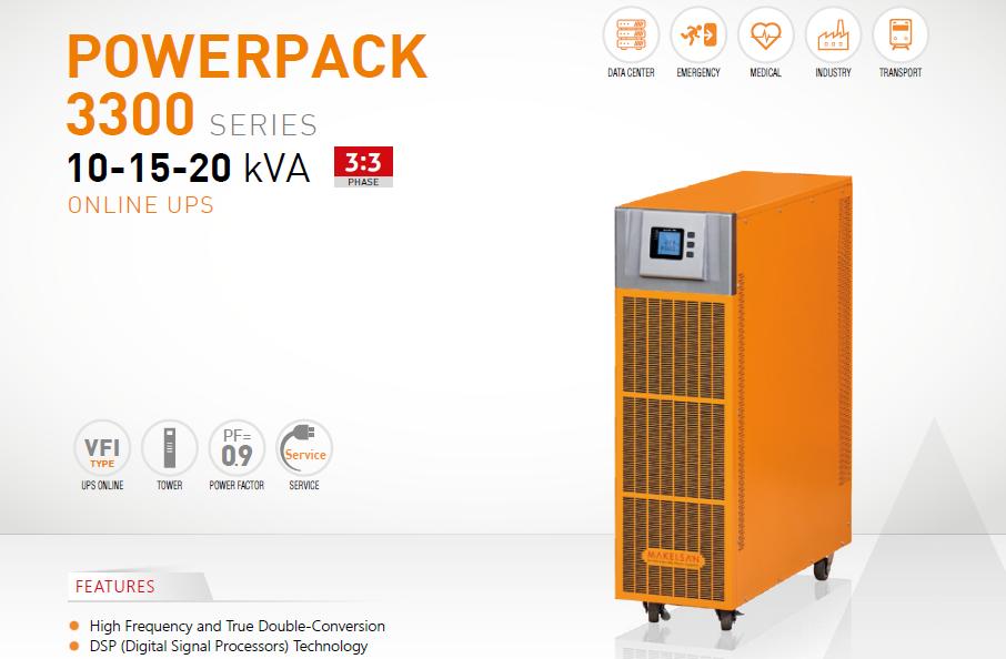 3 Phase UPS Models Powerpack SE Series