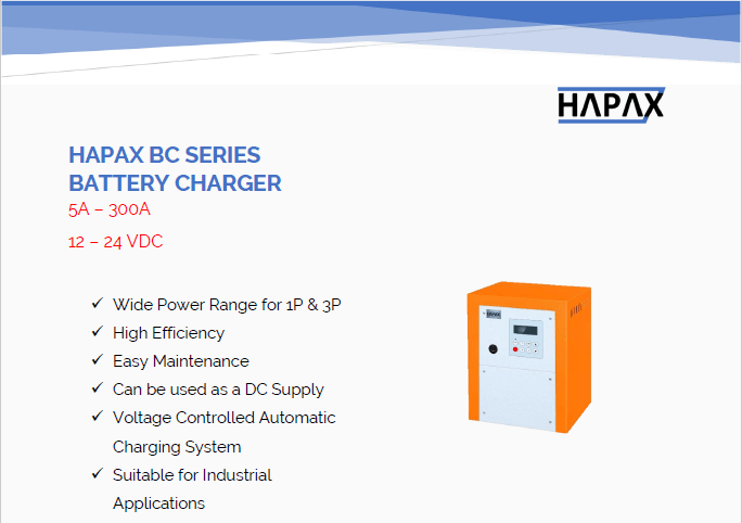 HAPAX BATTERY CHARGER